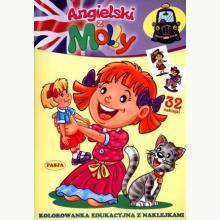 Angielski z Molly. Kolorowanka z naklejkami