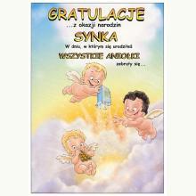 Gratulacje z okazji narodzin synka - kartka okolicznościowa
