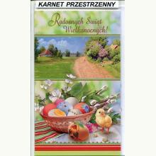Karnet przestrzenny - Radosnych Świąt Wielkanocnych!