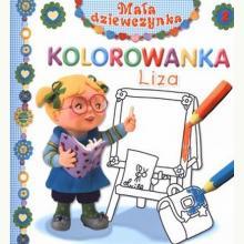 Liza. Kolorowanka. Mała dziewczynka.