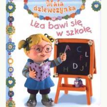 Mała dziewczynka. Liza bawi się w szkołę