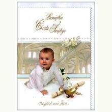 Pamiątka Chrztu Świętego dla chłopca - kartka okolicznościowa