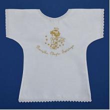 Szatka do chrztu w formie koszulki złota