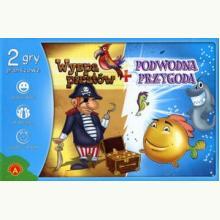 Wyspa Piratów + Podwodna Przygoda. 2 gry planszowe