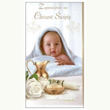 Zaproszenie na Chrzest Święty dla chłopca