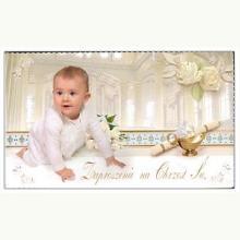 Zaproszenie na Chrzest Święty (chłopiec)