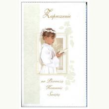 Zaproszenie na Pierwszą Komunię Świętą (dziewczynka)