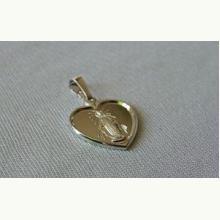 Medalik srebrny Matka Boska Niepokalana serce
