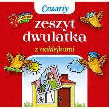 Biblioteczka mądrego dziecka. Czwarty zeszyt dwulatka z naklejkami